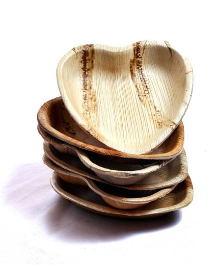 Love Heart Bamboo Plates